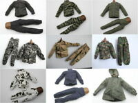 1/6 Scale Uniforms Coveralls Suit of 9 PCSTiger Desert Camo Fit HT B005 Body