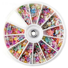 1200pcs Manicure Wheel Mixed Nail Art Tips Glitter Rhinestones Slice Decoration