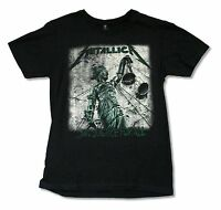 Metallica Green Justice For All Album Cover Art Black T Shirt New Official