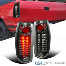 For 88-98 C/K C10 Silverado Black LED Rear Tail Lights Brake Lamps Left+Right