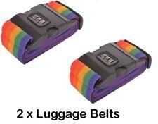 2 x Luggage Suitcase Lock Belt Strap Travel Baggage Tie Adjustable TWIN PACK UK