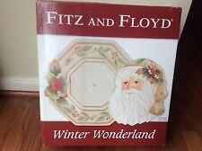 Fitz and Floyd ~ Winter Wonderland ~ Plate and Server Set