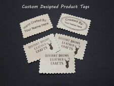 Custom Laser Engraved Leather Product Tag Labels for Crafts Clothing Purses etc.