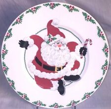 Fitz and Floyd Clicking Heels Salad Plate, Retired - Yuletide Holiday