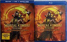 MORTAL KOMBAT LEGENDS SCORPIONS REVENGE BLU RAY DVD 2 DISC + SLIPCOVER SLEEVE