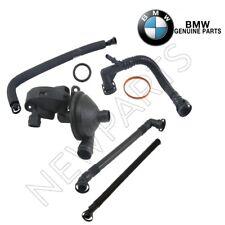 For BMW E46 E39 E85 530i Crankcase Breather Hose w/ Valve & Gasket Genuine KIT