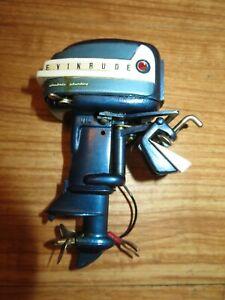 "1958 35hp Evinrude Big Twin Toy Outboard motor K & O Runs Rare 4-1/2"" Model 34"