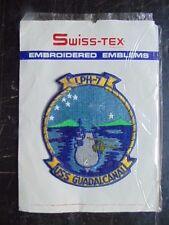 INSIGNE TISSU PATCH US NAVY USS GUADALCANAL LPH-7 / SWISS-TEX / MARINE USA