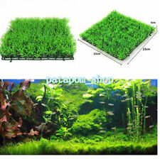 Artificial Water Aquatic Plastic Green Grass Plant Lawn Aquarium Fish Tank Decor