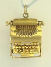 Nice Vintage 14K Yellow Gold Detailed Type Writer Charm B5329