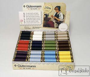 Gutermann - 150 Anniversary Thread Set - 72 Spools - 12 Colours - Full Box.