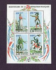 Bloc Timbre N°10 : N°2592 à 2595 : Bicentenaire de la Révolution 1989