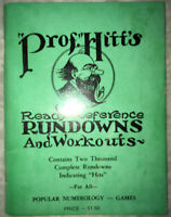 RARE Vintage Original(?) Prof. Hitt's Ready Reference Rundowns and Workouts Book