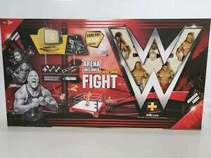 WWF WWE Wrestle Mania figures and Wrestling ring