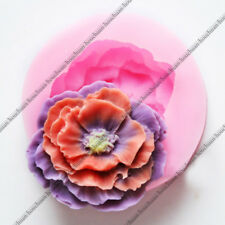 3D Large Peony Flower Modeling Mold Tool Fondant Cake Chocolate Decorating Mould