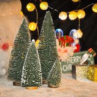 Mini Sisal Bottle Brush CHRISTMAS Tree Santa Snow Frost Village Putz House