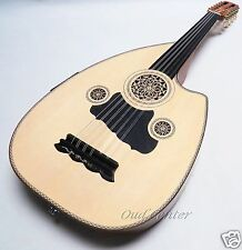 Professional Turkish Electric/ Acoustic Cut away SANDI Oud, Fretless Guitar!
