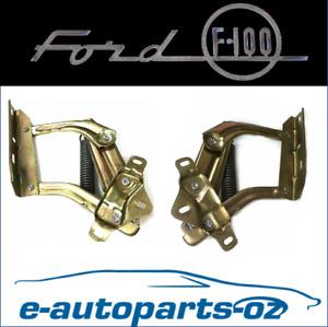 Ford F100 F150 F250 F350 Bronco Quality Bonnet/Hood Hinge Pair: 1974-1980