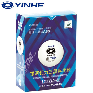 Table Tennis Balls Yinhe 12 x 3-Star New Materials Plastic White ITTF XUSHAOFA