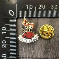 AUTHENTIC VINTAGE SCOTLAND BAG PIPES NATIONAL ENAMEL LAPEL PIN BADGE