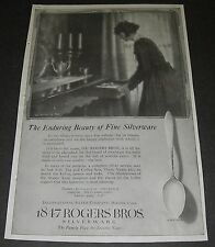 Print Ad 1919 SILVERWARE 1847 Rogers Bros Queen Anne Pattern ART Dining Buffet