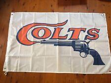 Colt Defense Flag 3x5FT White Banner Pistol Revolver Rifle NRA Gun US Shipper