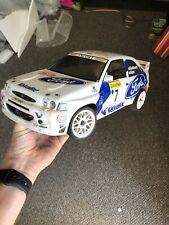 Yokomo Vintage Rc Car with Tamiya Ford Escort 4wd Cosworth Rally body