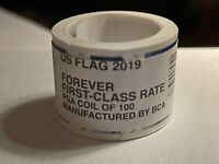 New One (1) Roll /Coil of 2019 US FLAG FOREVER APU 100 Postage Stamps $55 Value