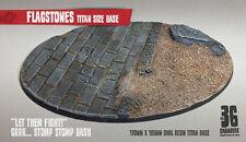 Flagstones - 170mm x 105mm Oval Resin Scenic Titan Base