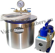 25CM Vakuumkammer 12L +170l/min Vakuumpumpe Entgasungskammer Vakuum Chamber Güte