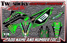 KAWAZAKI KFX KX 125/150/250/450 Graphics Kit with custom numbers etc - 2002-2016