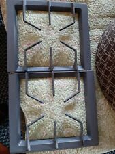 Jenn Air Range Burner Grate kit, right and left, gray, #2, cast iron, Used, good