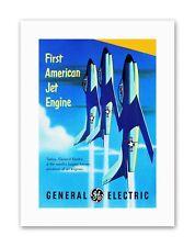 American jet engine avion Vintage Sport Toile Art Prints