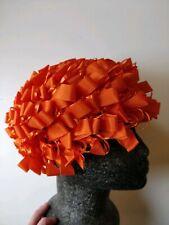 Vintage 1960's Orange Ribbon Hat