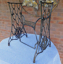 Antique SINGER CAST IRON Treadle Sewing MACHINE TABLE BASE Steampunk INDUSTRIAL