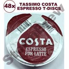 48x TASSIMO COSTA ESPRESSO COFFEE T-DISCS (LOOSE) EXPRESSO PODS LATTE CAPPUCCINO