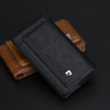 For Apple iphone 11 12 Pro Max Pierre Cardin Genuine Leather Phone Belt Bag Case