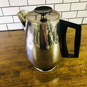 Flavo-Perk 6-10 cup Vintage Electric West Bend Percolator Coffee Maker USA-Made