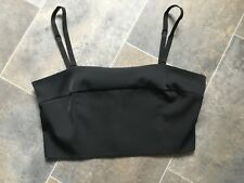 NEW M&S Black Bustier/Bandeau/Detachable Straps Top UK 14