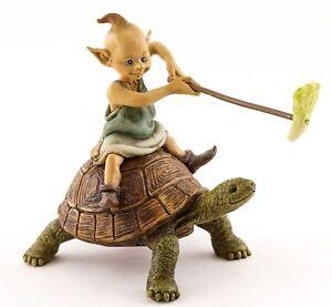 Garden Pixie Riding on Turtle TO 4657 Miniature Fairy Garden