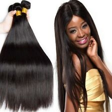 3Bundles Virgin Brazilian Straight Hair Wave 7A Human Hair Weave Extensions Weft