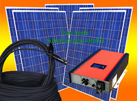 2,5KW / 2500Watt Photovoltaikanlage PV Solar Anlage / Set mit Wechselrichter