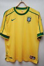 BRAZIL NATIONAL TEAM 1998 2000 HOME FOOTBALL SHIRT SOCCER JERSEY SIZE M
