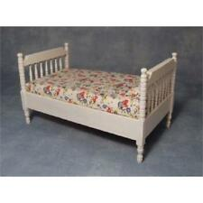 12th Scale White Bed For Dolls Houses