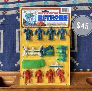 Vintage 1984 Gordy Battle Of The Bi-Trons Robot MiniFigures, Transformers Decoys