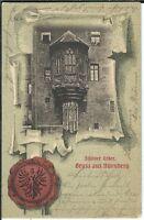 Ansichtskarte Gruss aus Nürnberg - Schöner Erker - Litho 1902 - gelaufen