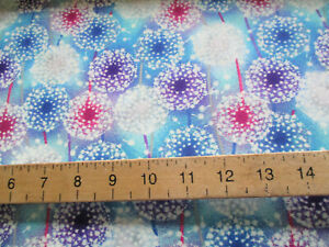 FAT QUARTER BLANK QUILTING LET YOUR LIGHT SHINE GLOW IN THE DARK QUILTING COTTON