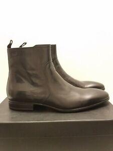 Boss Hugo Boss men's Vermins leather Chelsea boots black sz 10.5 NEW!