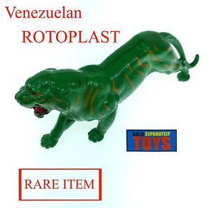 Vtg Venezuela ROTOPLAST BATTLE CAT Cringer tiger figure MOTU Masters of Universe