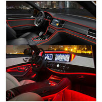 12V 4M Fiber Optic Interior Lights Car Door Center Console Ambient Light Decor